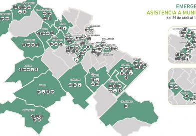 Asistencia Provincial a los Municipios damnificados