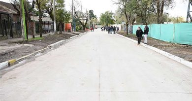 Ing. Pablo Nogués: otro pavimento inaugurado