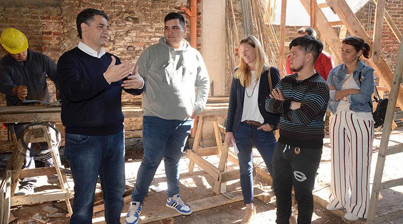 Jorge Macri recorrió las nuevas obras del CBJ de Villa Martelli