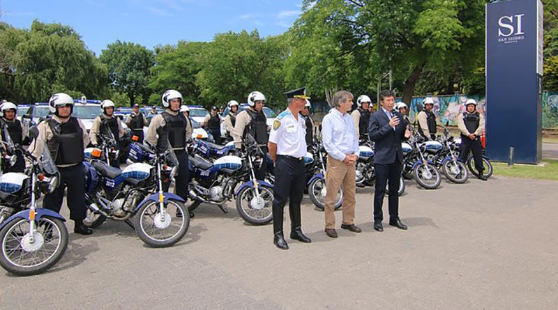 San Isidro sumó nuevas motos al patrullaje municipal