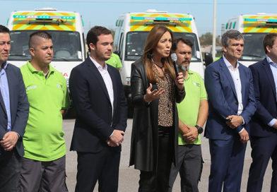 Vidal anunció que el SAME ya opera en cien municipios de la Provincia
