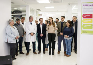 Vidal inauguró la renovada guardia del Hospital Cetrángolo en Vicente López
