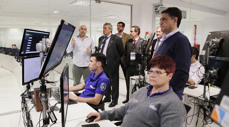 Jorge Macri recibió a Enrique Antía en el Centro de Monitoreo
