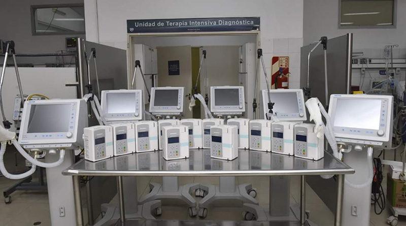 Malvinas suma seis nuevos respiradores al Hospital de Trauma