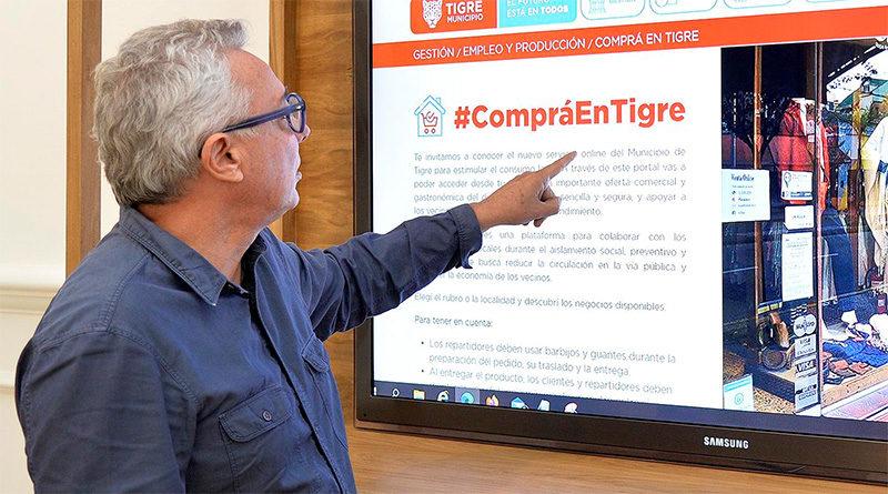 Julio Zamora lanzó #CompráEnTigre, una plataforma virtual que estimula el comercio local