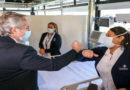 El presidente Alberto Fernández inauguró un hospital de cuidados críticos COVID 19
