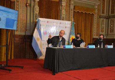 El ministro de Salud y el jefe de Gabinete brindaron una conferencia sobre el avance de la pandemia y las medidas para enfrentarla en la provincia