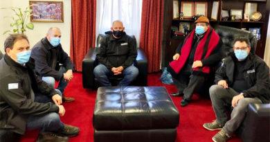 Altos funcionarios del Ministerio de Seguridad provincial se reunieron con el intendente Ishii