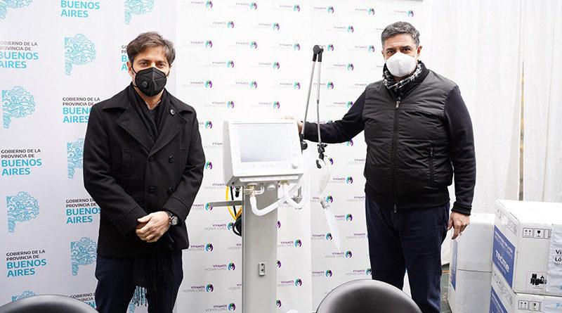 Jorge Macri recibió a Axel Kicillof en Vicente López para la entrega de 5 respiradores