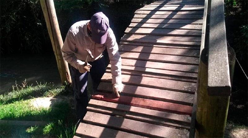 Tareas de mantenimiento de muelles, puentes y luminarias en Islas