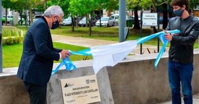 Juan Andreotti y Julio Zamora inauguraron las Plazas Carlos Pellegrini y Luis Castellari en la zona del Canal