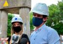 Malena Galmarini y Juan Andreotti recorrrieron una obra cloacal en San Fernando