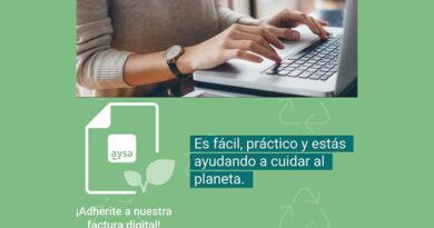 Adherite a la Factura Digital a través de la Oficina Virtual de AySA, una nueva plataforma tecnológica