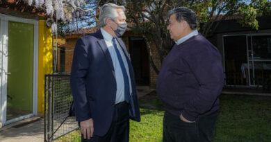 El presidente Alberto Fernández en José C. Paz