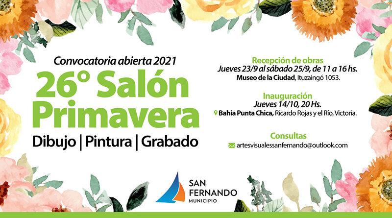 Sigue abierta la convocatoria de artistas para participar de la 26° edición del Salón Primavera en San Fernando